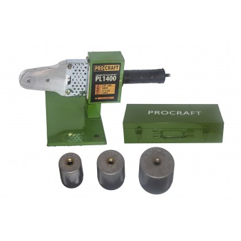 Aparat de lipit tevi PPR, PPC Procraft PL1400, 1400 W, 300  °C, trusa cu 3 bac-uri