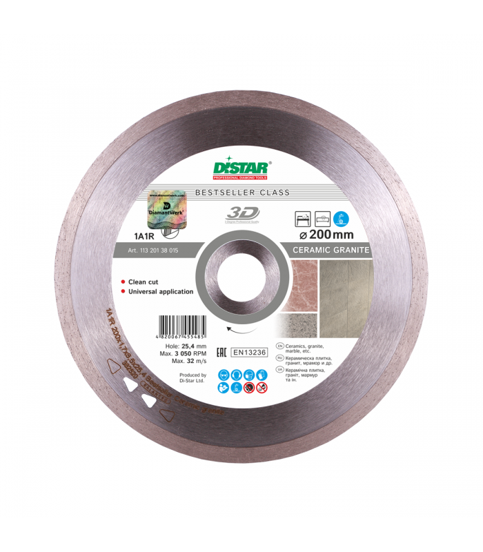 Disc diamantat Distar, 1A1R Ceramic granit 200x25.4mm