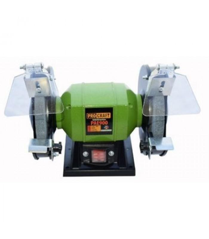 Polizor de banc PROCRAFT PAE900, 900W, 2950rpm + 2 Discuri de granulatie diferita